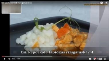 Csirkepörkölt rizsgaluskával