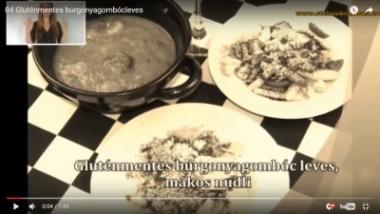 Gluténmentes burgonyagombóc-leves