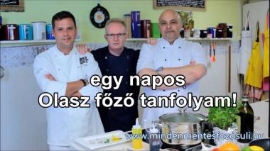 Egynapos olasz főzőtanfolyam